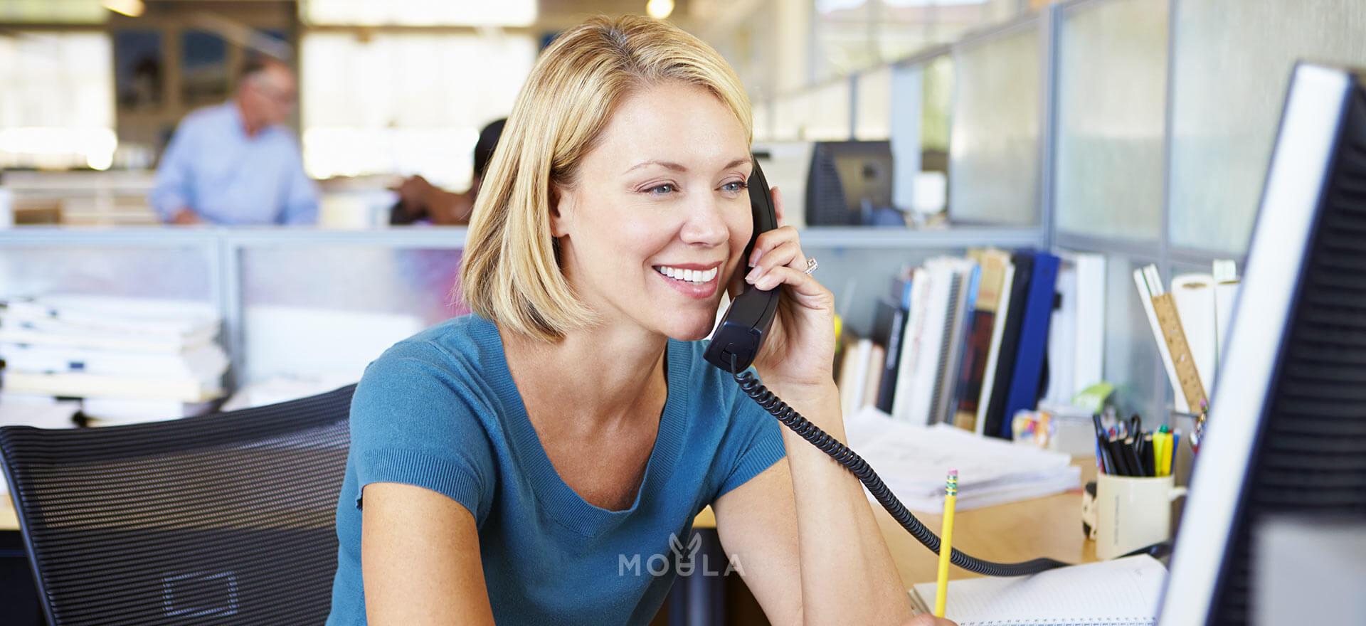 Client discussing business lending solution
