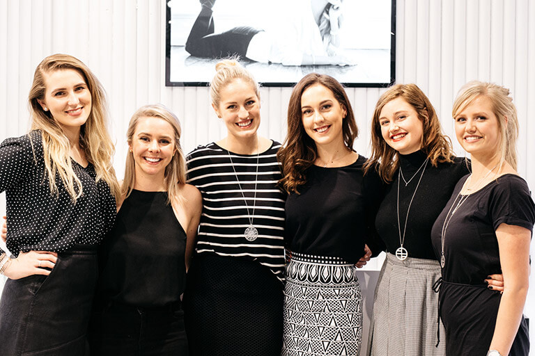 Group photo of the Francesca Melbourne store staff.