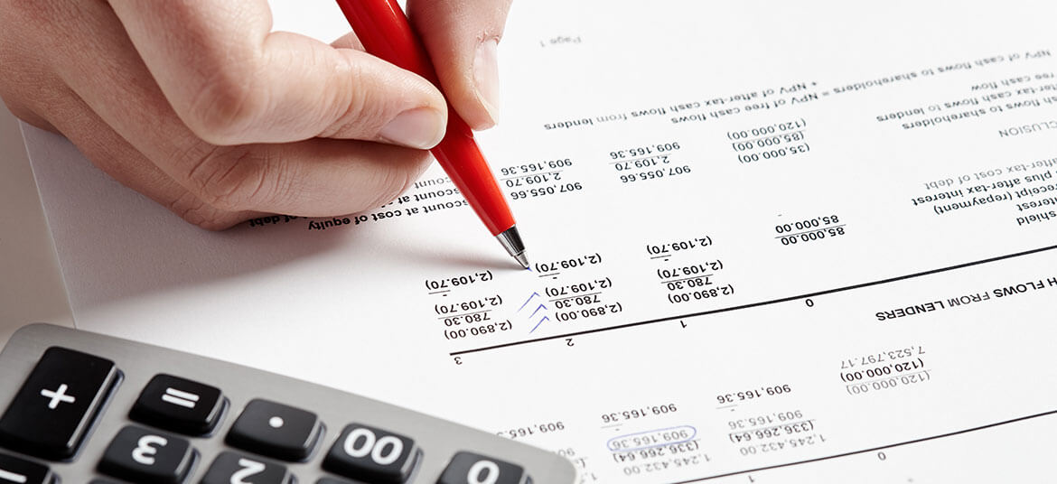 Image of a person analysing a cash flow statement