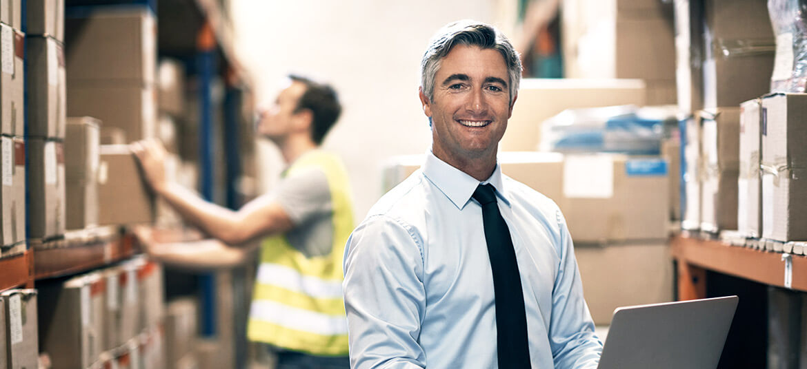 man in warehouse organising letter of credit